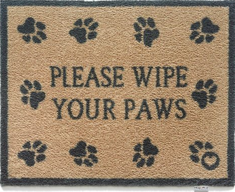 Hug Rug Barrier Mat Pet 60 Please Wipe Your Paws Size 65cm x 85cm