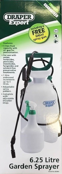 Draper Garden Sprayer 5L + free hand spray gun 82464