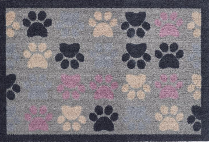 Howler and Scratch Mat Multi Paw 1 Size 50 x 75cms