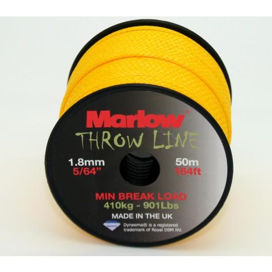 Marlow Ropes Dyneema Throwline 1.8mm Yellow | 50m Roll