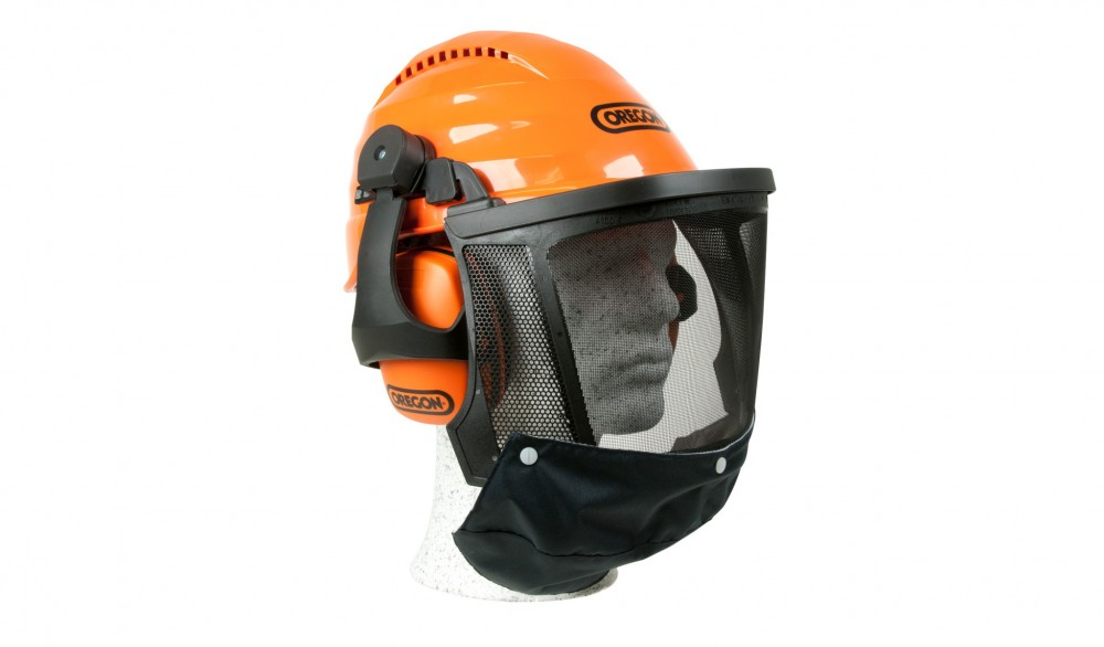 Oregon Waipoua Safety Helmet Combination Ear Muff and Mesh Visor