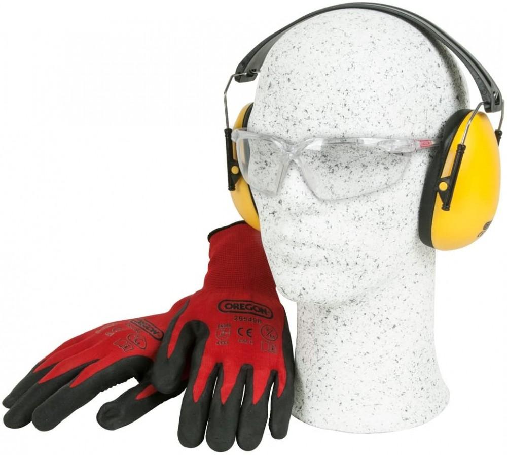 Oregon Gloves, Earmuff and Glasses Safety Kit  572870
