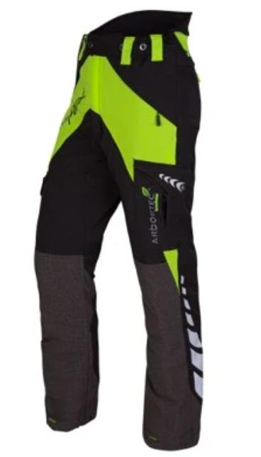 Arbortec Breatheflex Ladies Type A  Chainsaw Trousers Black Lime