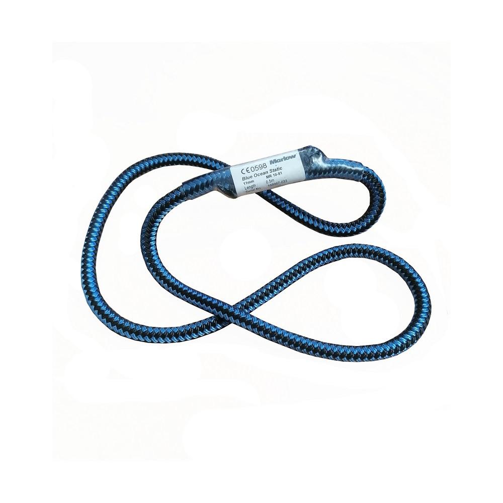 Marlow 9mm Blue Ocean Prusik Loop Blue/Black 100% Recycled