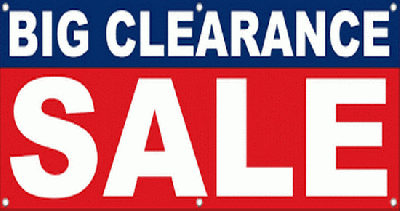 Clearance/ Sell Off